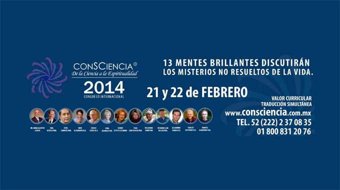 Congreso Consciencia 2014. Puebla, México.