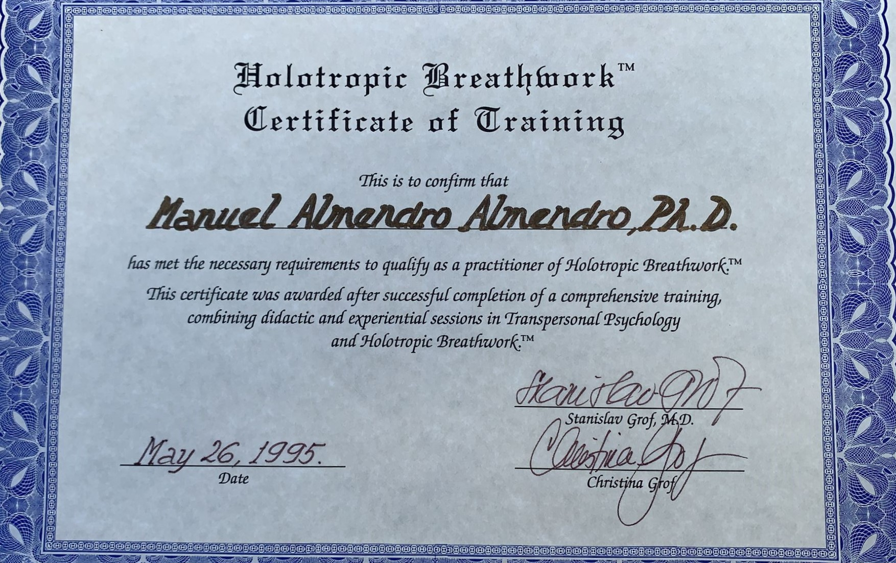 Certificación Respiración Holotrópica